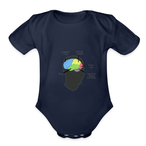 Corbin YT brain diagram - Organic Short Sleeve Baby Bodysuit