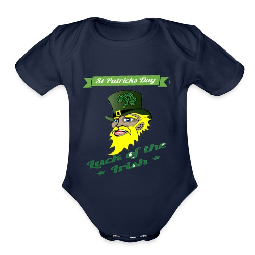 Patricks day - Organic Short Sleeve Baby Bodysuit