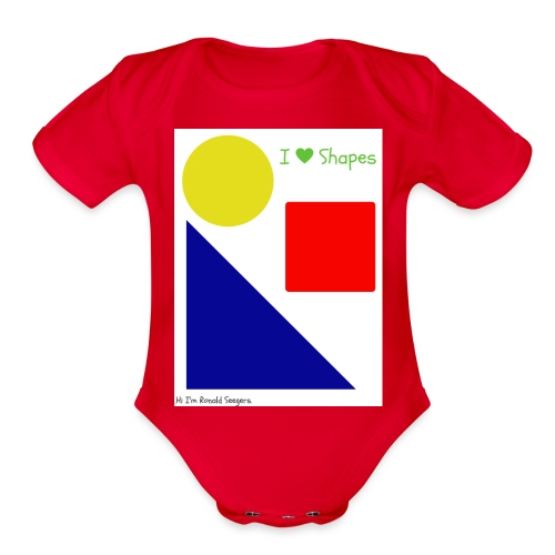 Hi I'm Ronald Seegers Collection-I Love Shapes - Organic Short Sleeve Baby Bodysuit