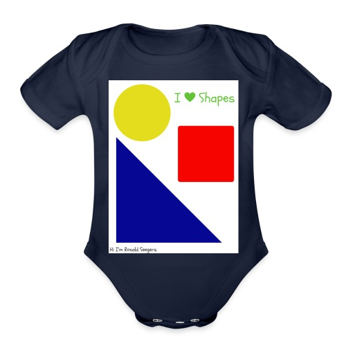 Hi I'm Ronald Seegers Collection-I Love Shapes - Organic Short Sleeve Baby Bodysuit