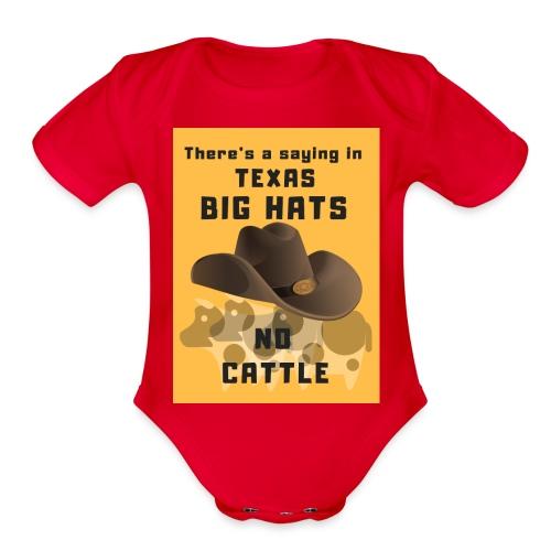 bighats - Organic Short Sleeve Baby Bodysuit