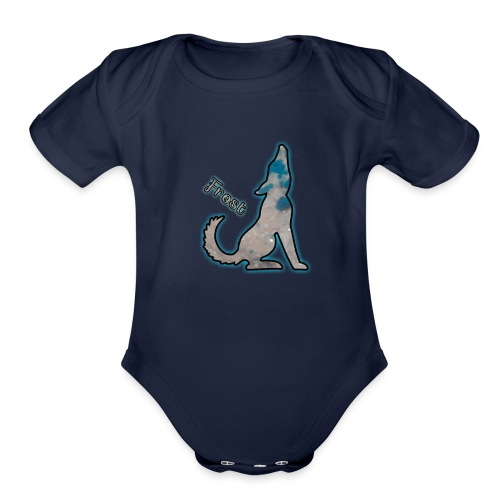 Frost the new shirt - Organic Short Sleeve Baby Bodysuit