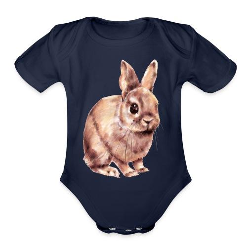 Rabbit - Organic Short Sleeve Baby Bodysuit