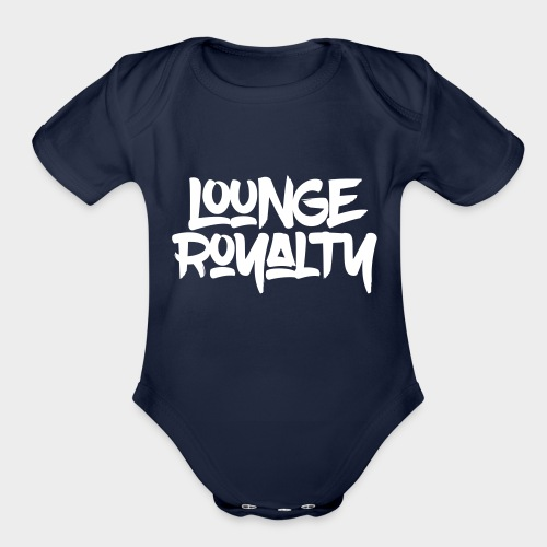 Lounge Royalty Logo - Organic Short Sleeve Baby Bodysuit