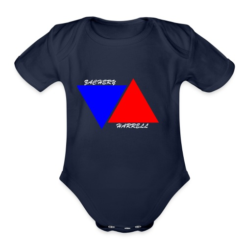 Officail 2017 Zachery Harrell logo - Organic Short Sleeve Baby Bodysuit