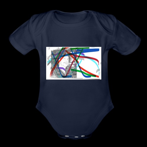 scotts art - Organic Short Sleeve Baby Bodysuit