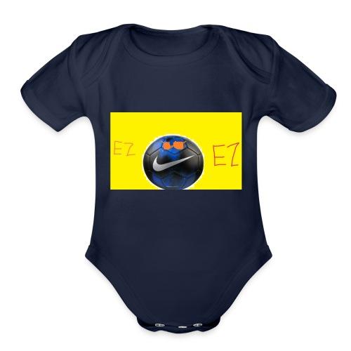 ez soccer tekkerz - Organic Short Sleeve Baby Bodysuit