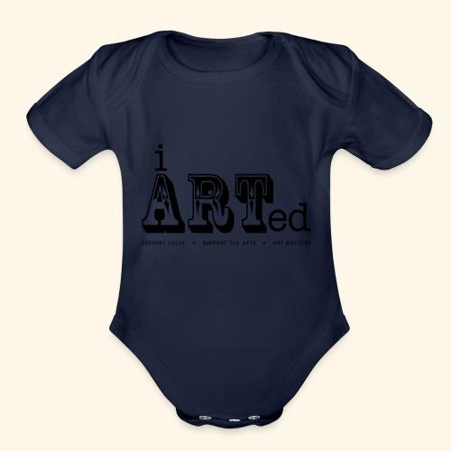 i arted (carnival theme) - Organic Short Sleeve Baby Bodysuit