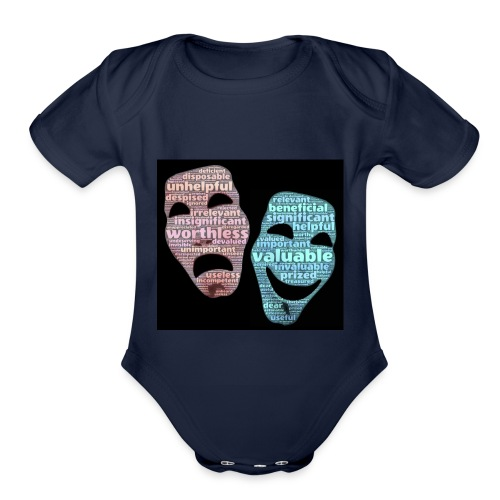 masks 827729 - Organic Short Sleeve Baby Bodysuit