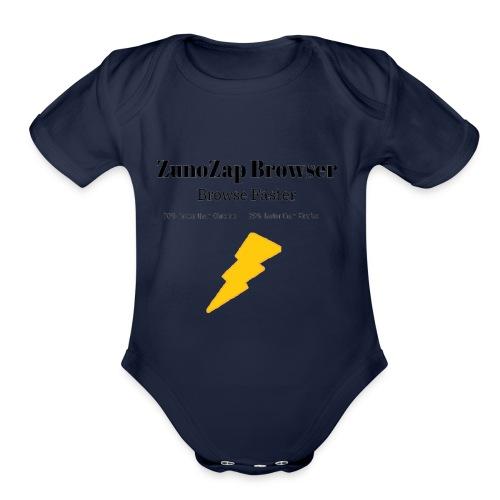 ZunoZap Merch (2nt design) - Organic Short Sleeve Baby Bodysuit
