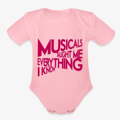 MTMEIK Pink Logo - Organic Short Sleeve Baby Bodysuit