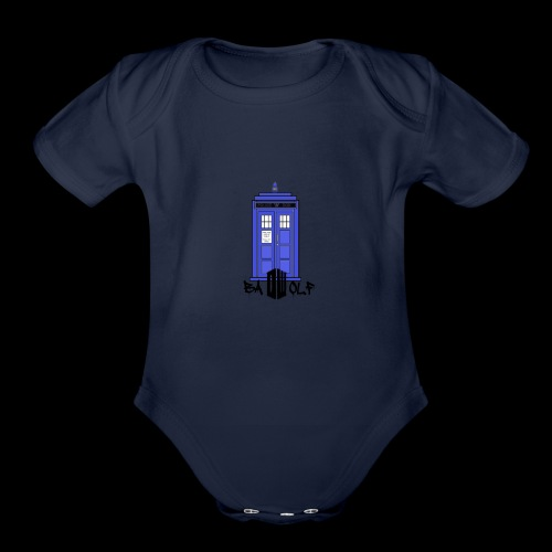 TARDIS - Organic Short Sleeve Baby Bodysuit