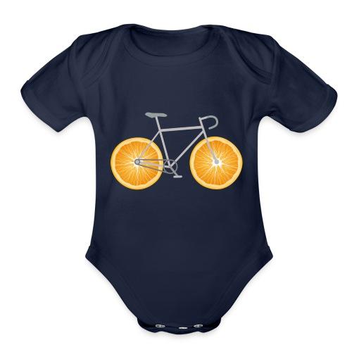 Orange Bike - Organic Short Sleeve Baby Bodysuit