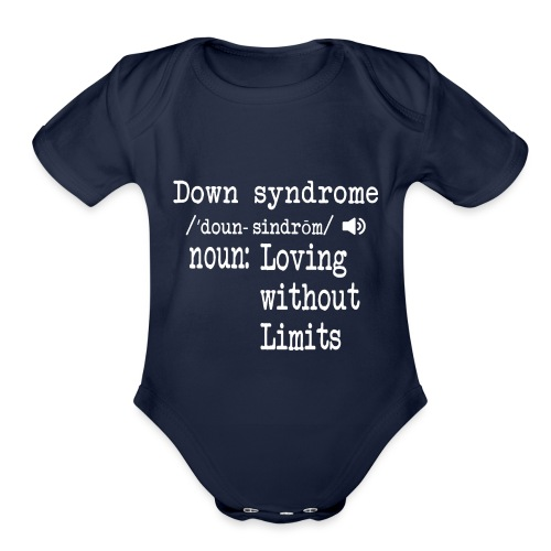 Down syndrome Definition - Organic Short Sleeve Baby Bodysuit