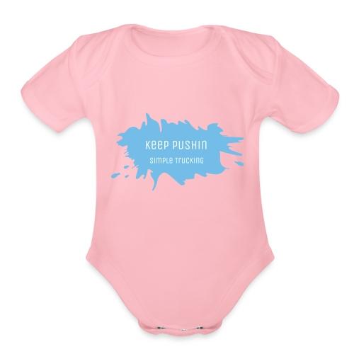 KEEP PUSHIN - Organic Short Sleeve Baby Bodysuit