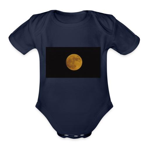 Moon Shining - Organic Short Sleeve Baby Bodysuit