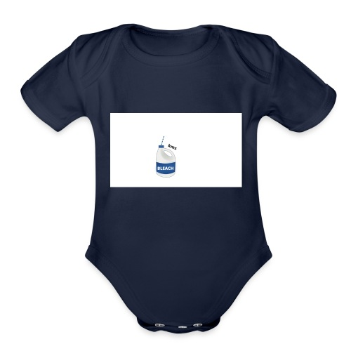 Bleach/ KMS - Organic Short Sleeve Baby Bodysuit