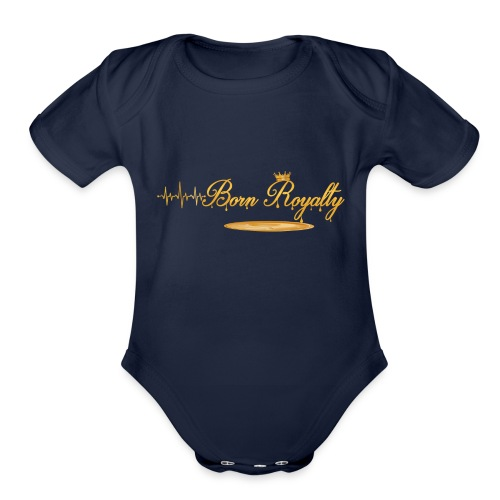 BornRoyalty Clothing Line - Organic Short Sleeve Baby Bodysuit