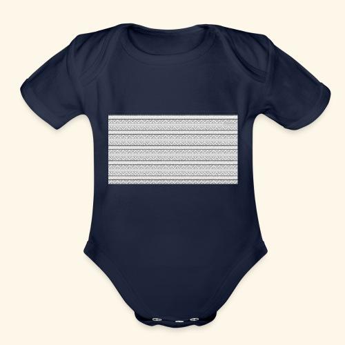 SLICK SLACK POLY'S ON THE BACK - Organic Short Sleeve Baby Bodysuit