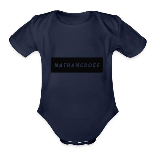 nathancdoee logo - Organic Short Sleeve Baby Bodysuit