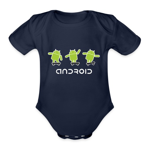 android logo T shirt - Organic Short Sleeve Baby Bodysuit