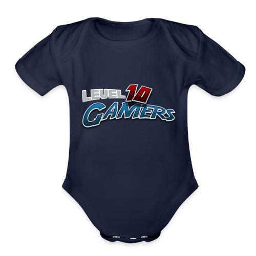 Level10Gamers Logo - Organic Short Sleeve Baby Bodysuit