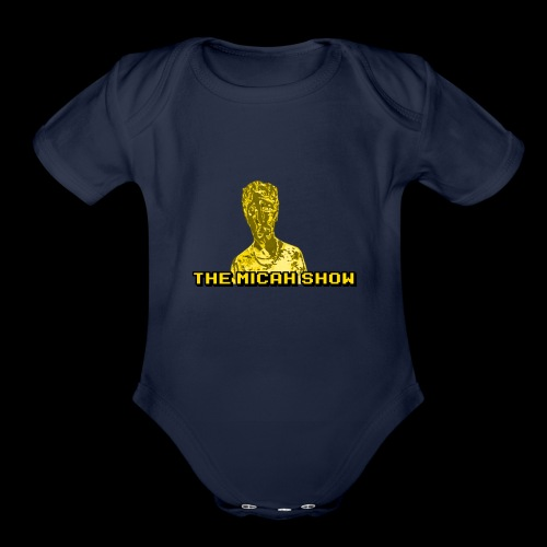 Limited Edition Gold Micah Show Logo - Organic Short Sleeve Baby Bodysuit