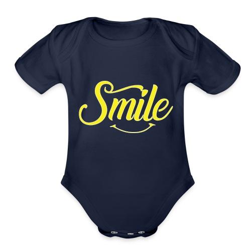 All Smiles - Organic Short Sleeve Baby Bodysuit