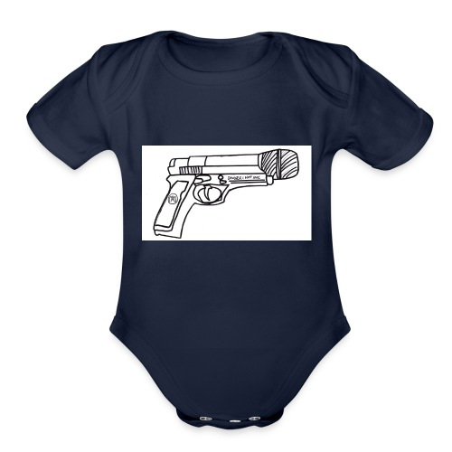 Hot Mic Handgun - Organic Short Sleeve Baby Bodysuit
