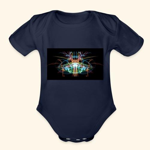 Light - Organic Short Sleeve Baby Bodysuit
