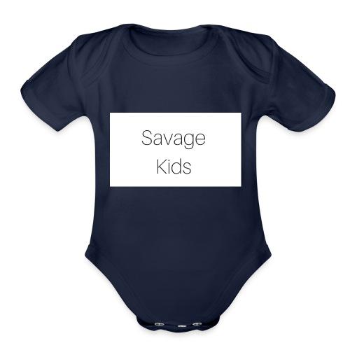Savage Kids - Organic Short Sleeve Baby Bodysuit