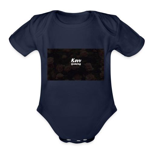 Kevv gaming Hipster Logo - Organic Short Sleeve Baby Bodysuit