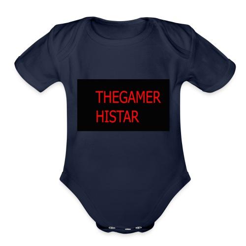 thegamer histar new logo - Organic Short Sleeve Baby Bodysuit