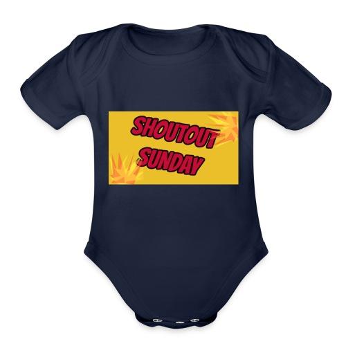 SHOUTOUT Sunday Merch - Organic Short Sleeve Baby Bodysuit