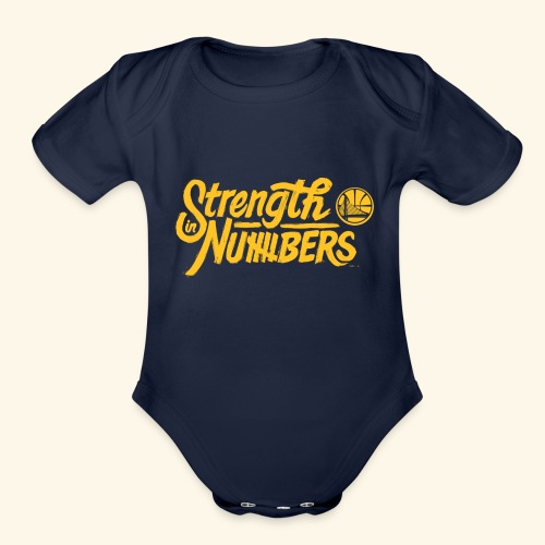 strength in numbers golden states - Organic Short Sleeve Baby Bodysuit