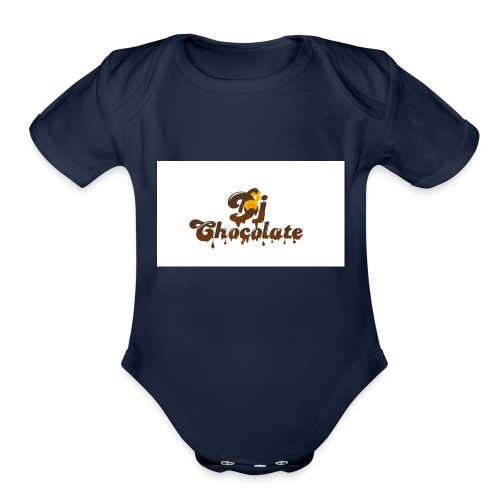 dj chocolate - Organic Short Sleeve Baby Bodysuit