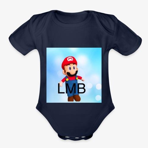 LMB Logo - Organic Short Sleeve Baby Bodysuit