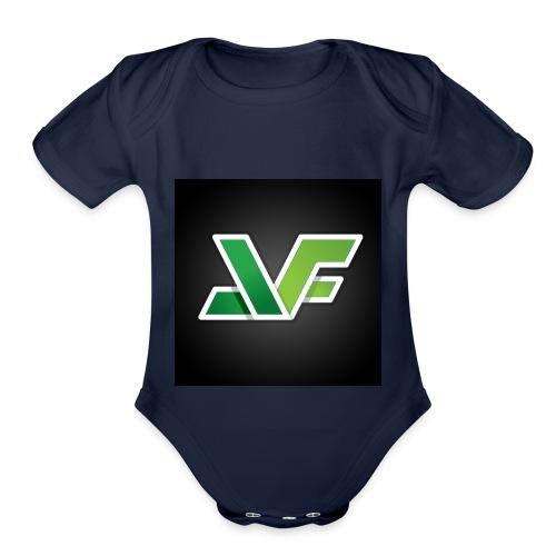 Jacks Flat Logo - Organic Short Sleeve Baby Bodysuit