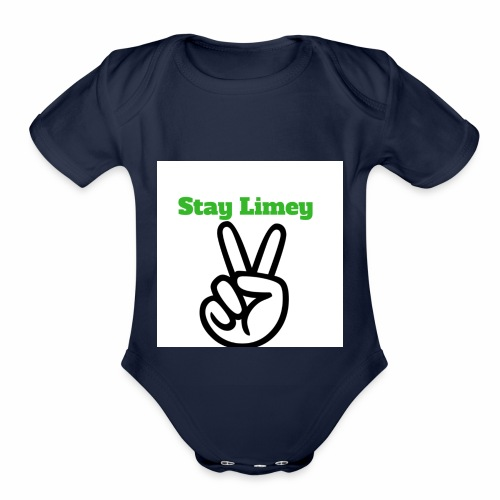 Peace Brand White - Organic Short Sleeve Baby Bodysuit