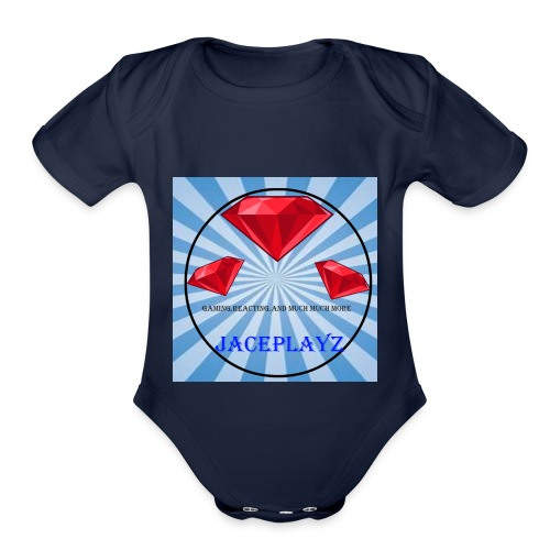 The official JacePlayzYT Shirt - Organic Short Sleeve Baby Bodysuit