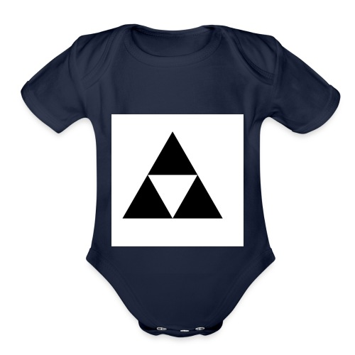 Triforce - Organic Short Sleeve Baby Bodysuit