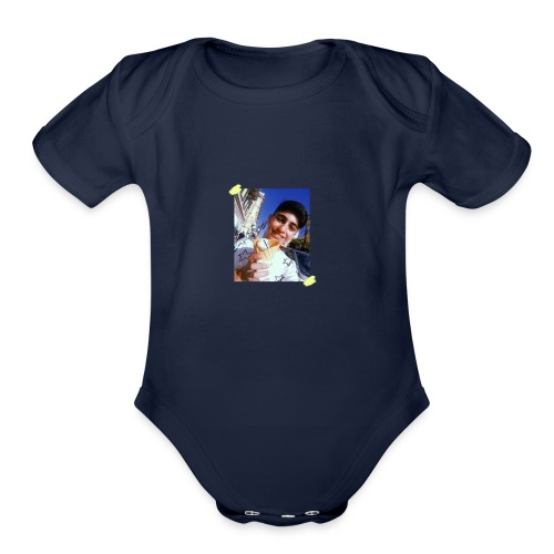 WITH PIC - Organic Short Sleeve Baby Bodysuit