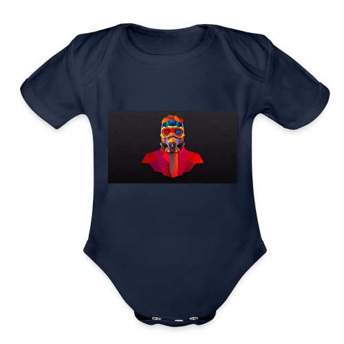 gurdians of the galaxy - Organic Short Sleeve Baby Bodysuit