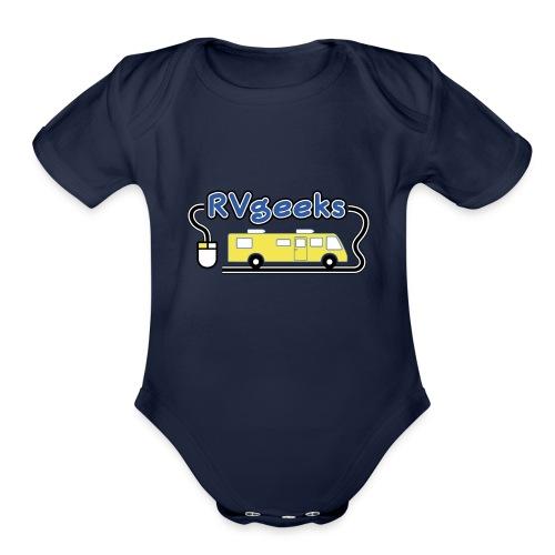 RVgeeks Logo - Organic Short Sleeve Baby Bodysuit