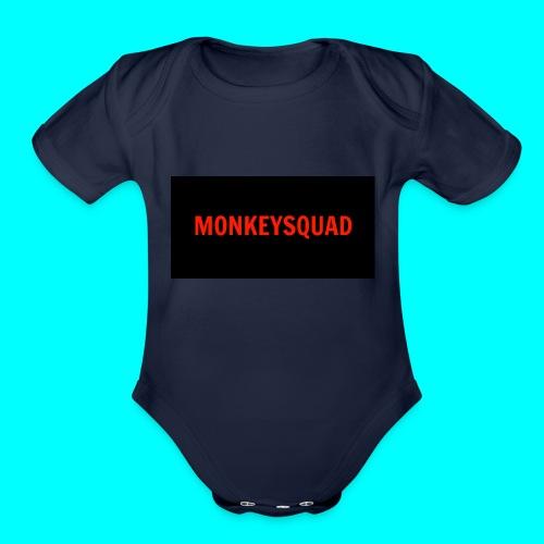 MonkeySquad logo - Organic Short Sleeve Baby Bodysuit