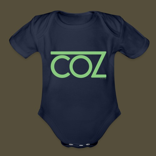 coz_logo_lightgreen - Organic Short Sleeve Baby Bodysuit