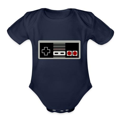 Retro Gaming Controller - Organic Short Sleeve Baby Bodysuit