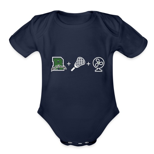 Ridge Lax Fan Reverse - Organic Short Sleeve Baby Bodysuit