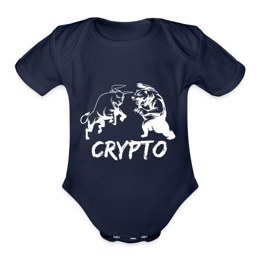 CryptoBattle White - Organic Short Sleeve Baby Bodysuit
