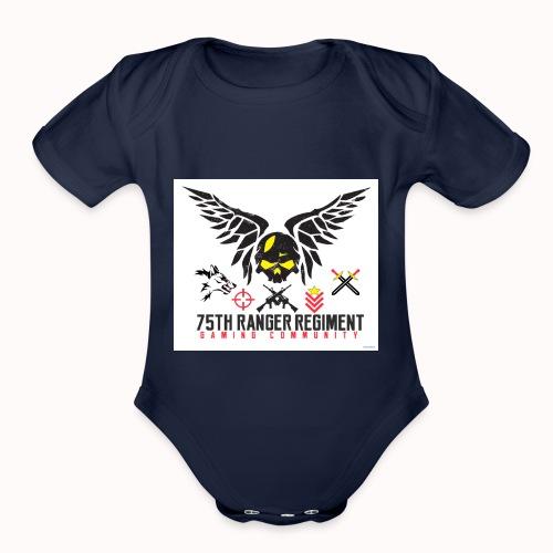 75th Ranger Regiment Gaming Community - Organic Short Sleeve Baby Bodysuit